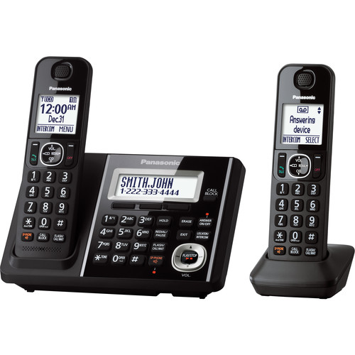 Panasonic Cordless Phone and Answering Machine with 2 Handsets