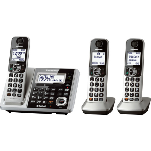 Panasonic KX-TGF372S Link2Cell Bluetooth Cordless Phone with 3 Handsets