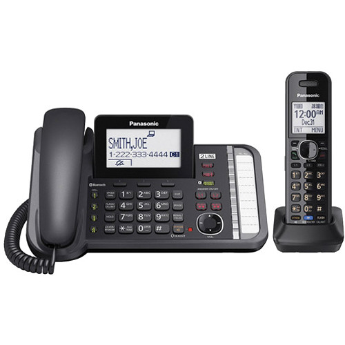 Panasonic Link2Cell KX-TG9581B 2-Line DECT 6.0 Cordless Phone with Cordless Handset