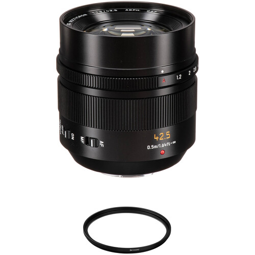 Panasonic Leica DG Nocticron 42.5mm f/1.2 ASPH. POWER O.I.S. Lens with Lens Care Kit