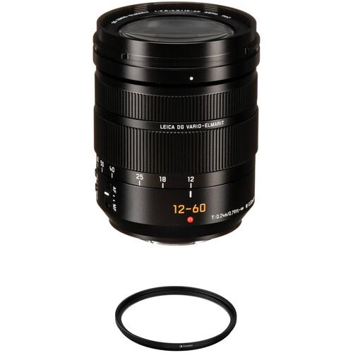 Panasonic Leica DG Vario-Elmarit 12-60mm f/2.8-4 ASPH. POWER O.I.S. Lens with UV Filter Kit