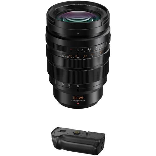 Panasonic Leica DG Vario-Summilux 10-25mm f/1.7 ASPH. Lens with DMW-BGGH5 Battery Grip Kit