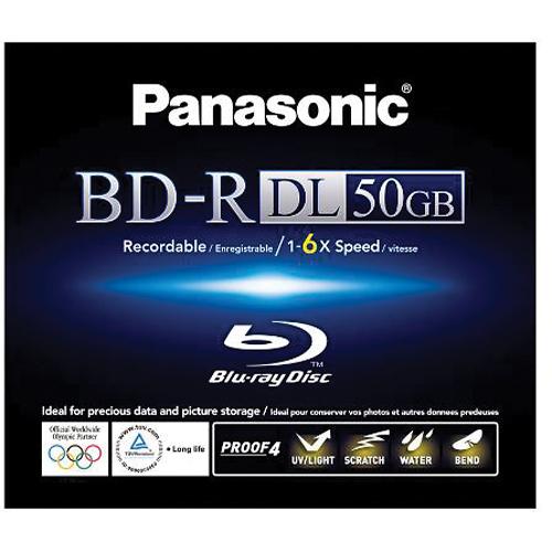 Panasonic BD-R 50 GB Single Sided Dual Layer Recordable Blu-ray Disc