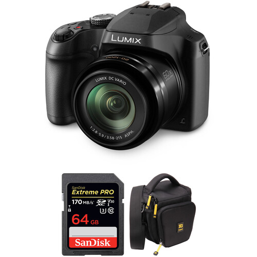 Panasonic Lumix DC-FZ80 18.1MP 4K Digital Camera w/Free Accessory Kit