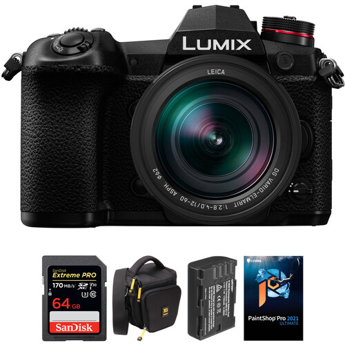 Panasonic Lumix DC-G9 Mirrorless Micro Four Thirds Digital Camera with 12-60mm Lens and Accessories Kit