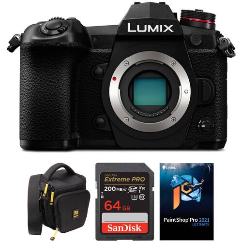 Panasonic Lumix DC-G9 Mirrorless Micro Four Thirds Digital Camera Body with Accessories Kit