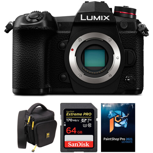 Panasonic Lumix DC-G9 Mirrorless Micro Four Thirds Digital Camera Body with Accessories Kit