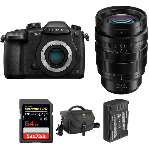 Panasonic Lumix DC-GH5 Mirrorless Digital Camera with 10-25mm Lens Kit