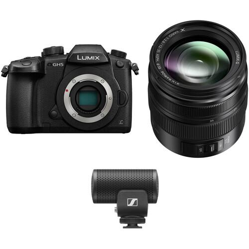 Panasonic Lumix DC-GH5 Mirrorless Micro Four Thirds Digital Camera with 12-35mm Lens & Microphone Kit