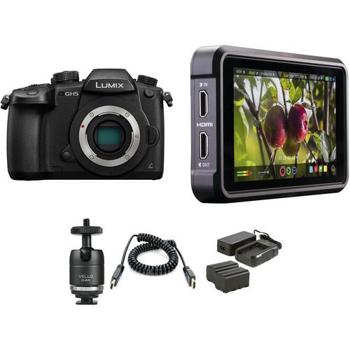 Panasonic Lumix DC-GH5 Mirrorless Micro Four Thirds Digital Camera with Ninja V Kit