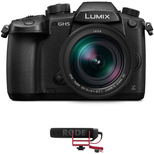 Panasonic Lumix DC-GH5 Mirrorless Micro Four Thirds Digital Camera with 12-60mm Lens and Microphone Kit