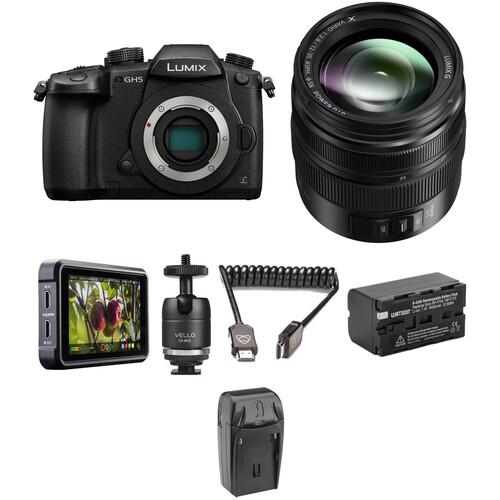 Panasonic Lumix DC-GH5 Mirrorless Micro Four Thirds Digital Camera with 12-35mm Lens and Ninja V Kit