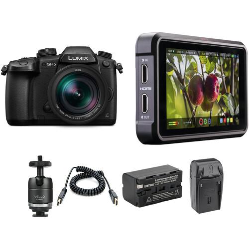 Panasonic Lumix DC-GH5 Mirrorless Micro Four Thirds Digital Camera with 12-60mm Lens and Ninja V Kit