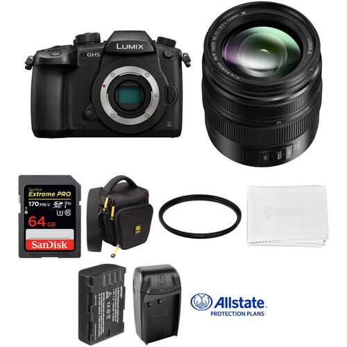 Panasonic Lumix DC-GH5 Mirrorless Micro Four Thirds Digital Camera with 12-35mm Lens Deluxe Kit