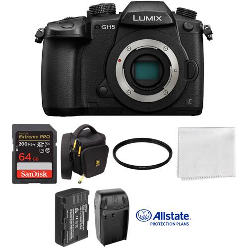 Panasonic Lumix DC-GH5 Mirrorless Micro Four Thirds Digital Camera Deluxe Kit