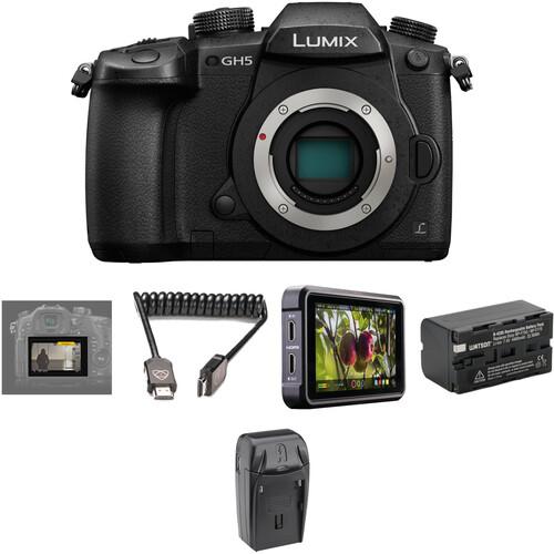 Panasonic Lumix DC-GH5 Mirrorless Micro Four Thirds Digital Camera with Pro HDR Kit
