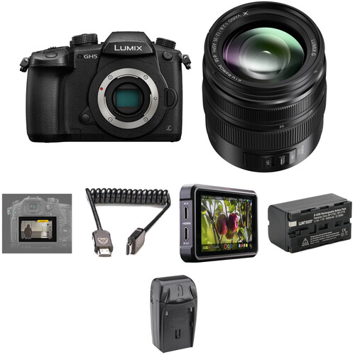 Panasonic Lumix DC-GH5 Mirrorless Micro Four Thirds Digital Camera with 12-35mm Lens and Pro HDR Kit