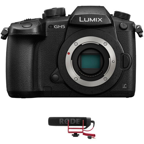 Panasonic Lumix DC-GH5 Mirrorless Micro Four Thirds Digital Camera with Microphone Kit