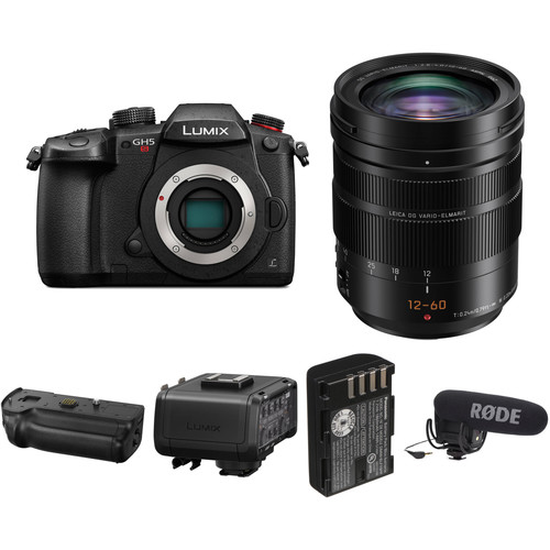 Panasonic Lumix DC-GH5S Mirrorless Micro Four Thirds Digital Camera with 12-60mm Lens Filmmaking Kit