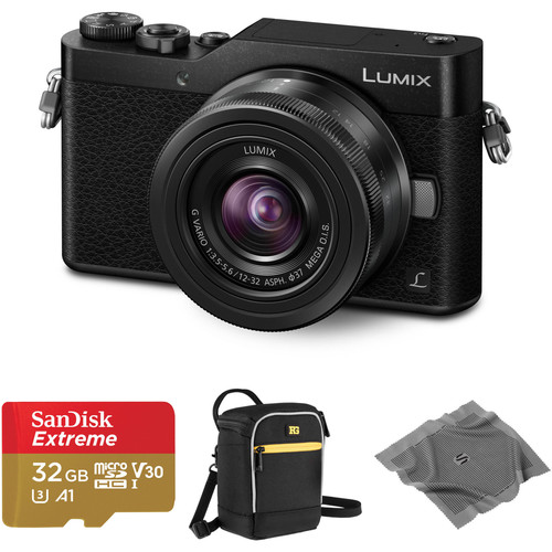 Panasonic Lumix DC-GX850 Mirrorless Micro Four Thirds Digital Camera with 12-32mm Lens and Accessories Kit (Black)