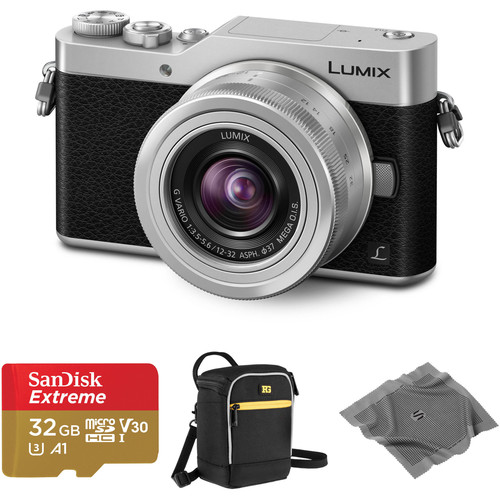 Panasonic Lumix DC-GX850 Mirrorless Micro Four Thirds Digital Camera with 12-32mm Lens and Accessories Kit (Silver)