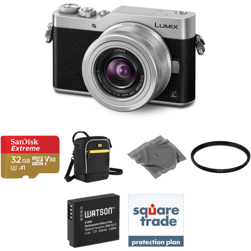 Panasonic Lumix DC-GX850 Mirrorless Micro Four Thirds Digital Camera with 12-32mm Lens Deluxe Kit (Silver)