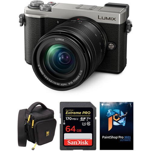 Panasonic Lumix DC-GX9 Mirrorless Micro Four Thirds Digital Camera with 12-60mm Lens and Accessories Kit (Silver)