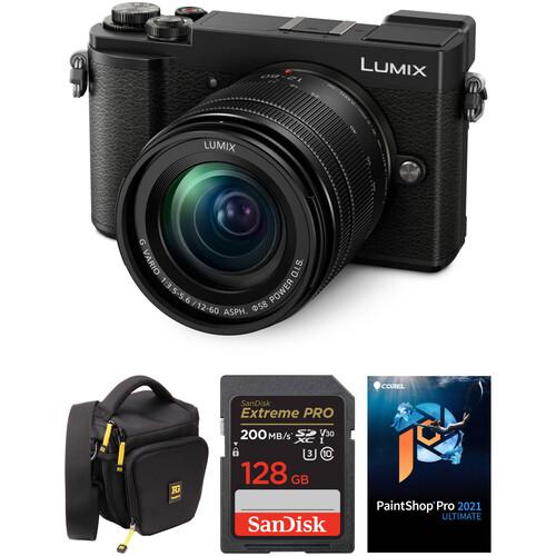 Panasonic Lumix DC-GX9 Mirrorless Micro Four Thirds Digital Camera with 12-60mm Lens and Accessories Kit (Black)