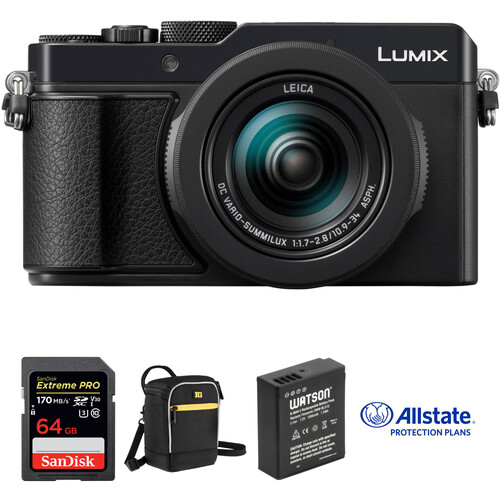 Panasonic Lumix DC-LX100 II Digital Camera with Deluxe Kit