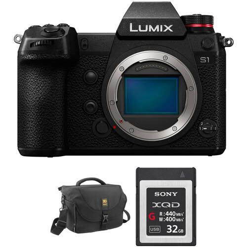 Panasonic Lumix DC-S1 Mirrorless Digital Camera Body with Accessories Kit