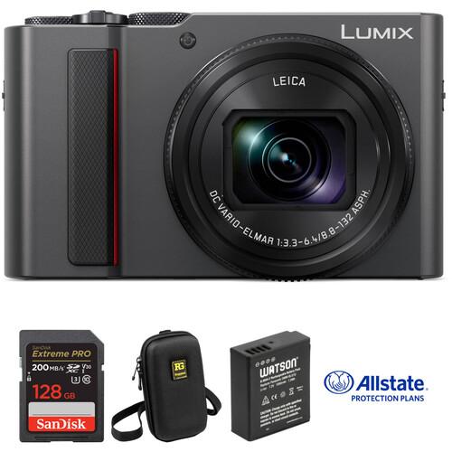 Panasonic Lumix DC-ZS200 Digital Camera Deluxe Kit (Silver)