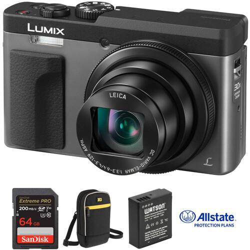 Panasonic Lumix DC-ZS70 Digital Camera Deluxe Kit (Silver)