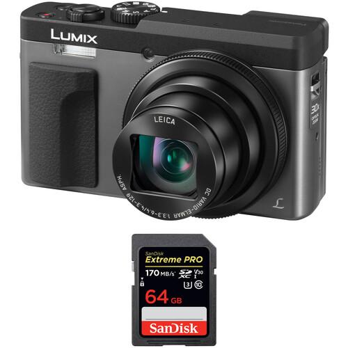 Panasonic Lumix DC-ZS70 Digital Camera with Accessory Kit (Silver)