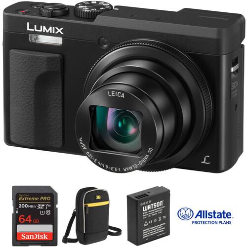 Panasonic Lumix DC-ZS70 Digital Camera Deluxe Kit (Black)
