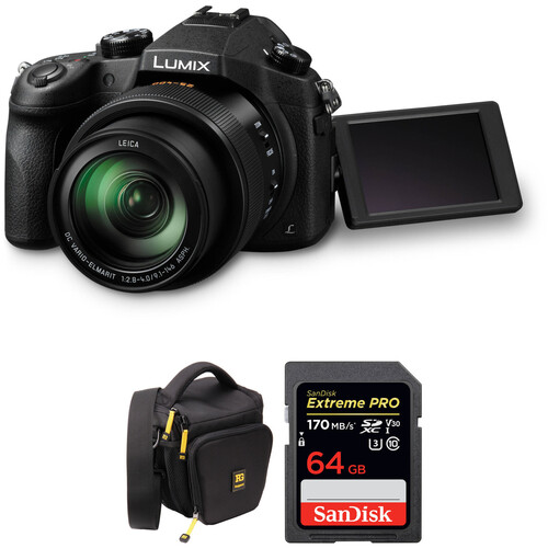 Panasonic Lumix DMC-FZ1000 Digital Camera with Free Accessory Kit