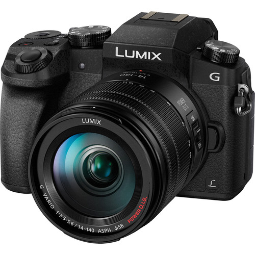 Panasonic Lumix DMC-G7 Mirrorless Micro Four Thirds Digital Camera with 14-140mm and 14mm Lenses Kit (Black)