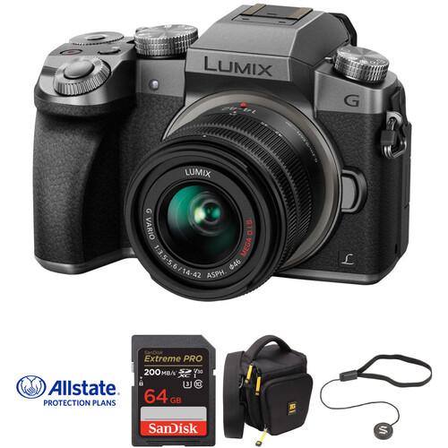 Panasonic Lumix DMC-G7 Mirrorless Micro Four Thirds Digital Camera with 14-42mm Lens Deluxe Kit (Silver)