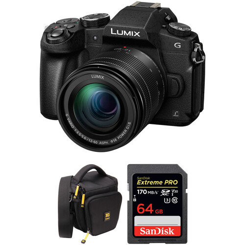 Panasonic Lumix DMC-G85 Mirrorless Micro Four Thirds Digital Camera with 12-60mm Lens and Accessory Kit