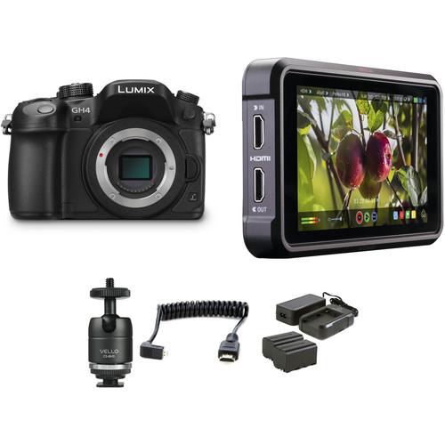 Panasonic Lumix DMC-GH4 Mirrorless Micro Four Thirds Digital Camera with Ninja V Kit