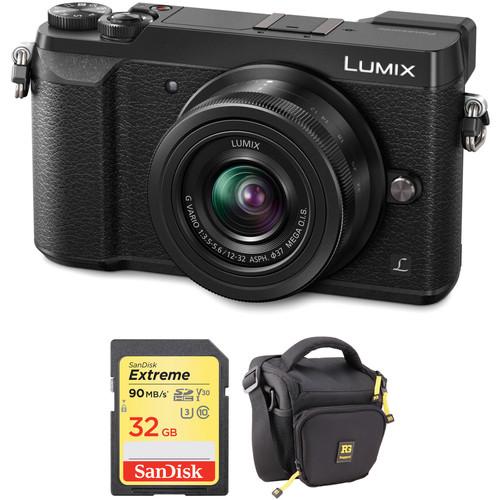 Panasonic Lumix DMC-GX85 Mirrorless Micro Four Thirds Digital Camera with 12-32mm Lens and Accessories Kit (Black)