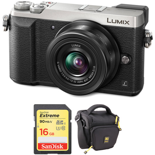 Panasonic Lumix DMC-GX85 Mirrorless Micro Four Thirds Digital Camera with 12-32mm Lens and Accessories Kit (Silver)