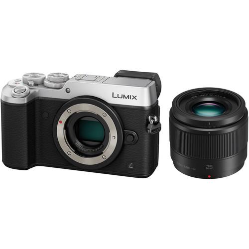 Panasonic Lumix DMC-GX8 Mirrorless Micro Four Thirds Digital Camera with 25mm Lens Kit (Silver)