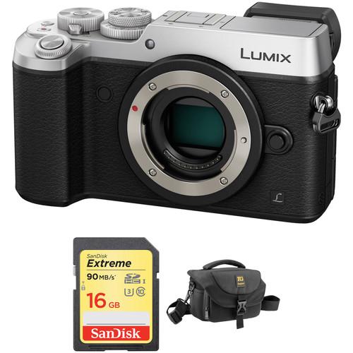 Panasonic Lumix DMC-GX8 Mirrorless Micro Four Thirds Digital Camera Body with Accessory Kit (Silver)