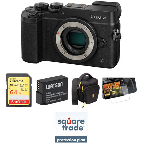 Panasonic Lumix DMC-GX8 Mirrorless Micro Four Thirds Digital Camera Deluxe Kit (Black)
