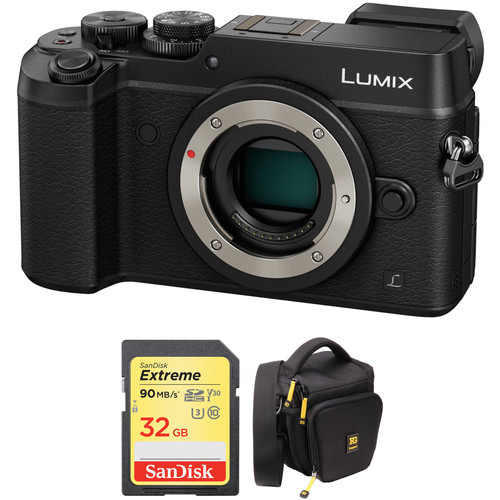 Panasonic Lumix DMC-GX8 Mirrorless Micro Four Thirds Digital Camera Body with Accessory Kit (Black)