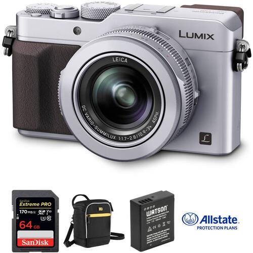 Panasonic Lumix DMC-LX100 Digital Camera Deluxe Kit (Silver)