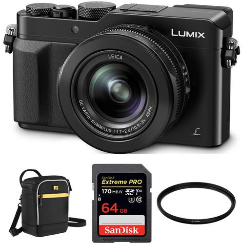 Panasonic Lumix DMC-LX100 Digital Camera with Accessories Kit (Black)