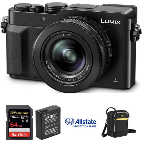 Panasonic Lumix DMC-LX100 Digital Camera Deluxe Kit (Black)