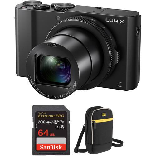 Panasonic Lumix DMC-LX10 Digital Camera with Free Accessory Kit