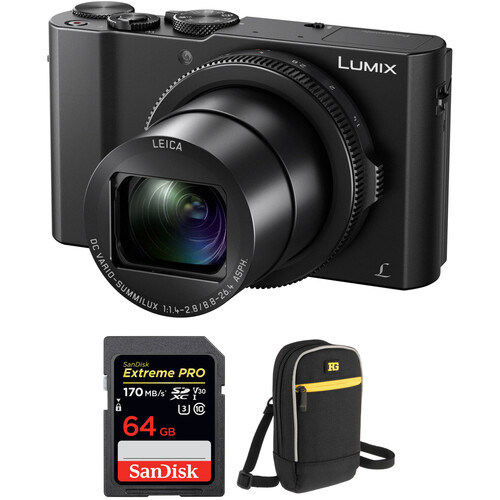 Panasonic Lumix DMC-LX10 Digital Camera with Free Accessory Kit